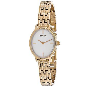 Timex Damen's Milano Weißes Zifferblatt Uhr - TW2R94100