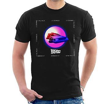 Takaisin tulevaisuuteen Delorean Purple Moon Men's T-paita