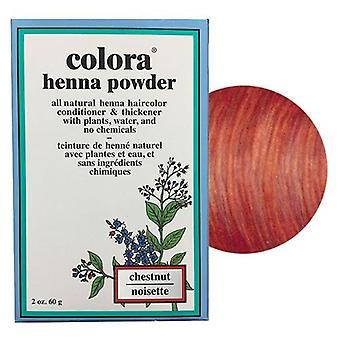 Colora Henna Powder Natural Organic Dye Hair Colour - Chestnut