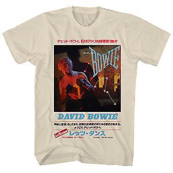 David Bowie T-paita Let' Tanssi Japanilainen Teksti David Bowie Paita