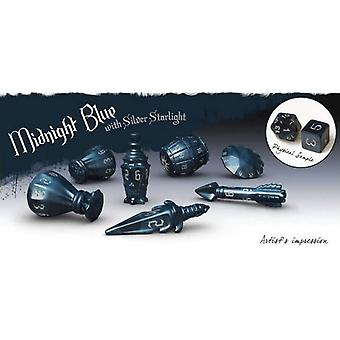 PolyHero Rogue Dice Set - Midnight Blue