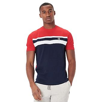Fila Dover Colour Block T-Shirt Blue 07