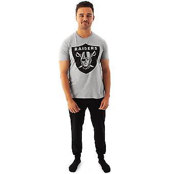NFL Las Vegas Raiders Pyjamas Mænd & apos;s amerikansk fodbold T-shirt & Bukser Pjs