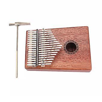 17 Key Mahogany Metal Kalimba Finger Thumb Piano Gift Craft