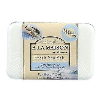 A La Maison Bar Seife, frisches Meersalz 8,8 Oz