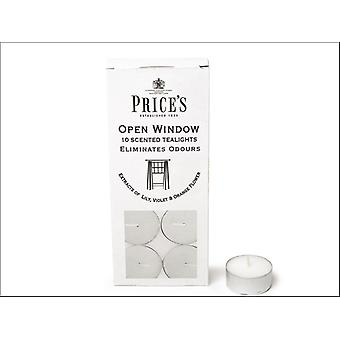 Prices Fresh Air Tealights Open Window x 10 FR551016