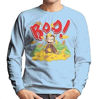 Curious George Boo In The Leaves Men's Sweatshirt
