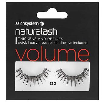 Salon System  Naturalash - Volume - No 120 Reusable Eyelashes - (adhesive Included)