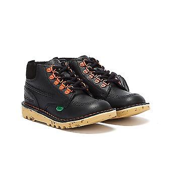 Kickers Kick Hi Winter Full Grain Junior Black Boots
