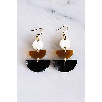 16k Gold Plated Buffalo Horn Earrings