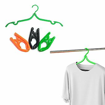 PMS 2 Pack Fold Clothes Portable Travel Hanger - Assorted Colours