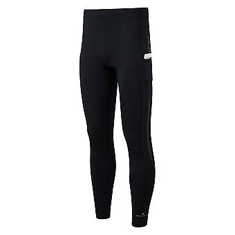 Ronhill Tech Revive Mens Breathable & Stretchy Running Tights All Black