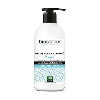 Shower Gel and Shampoo 2 in 1 Aloe Linen Rice Bio 500 ml
