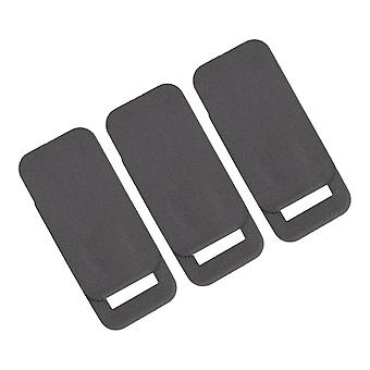 3Pieces Rectangle Black Plastic WebCam Cover Slide Privacy Security