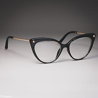 Cat Eye Glasses Frames Plastic Titanium Women Trending Rivet Styles Optical