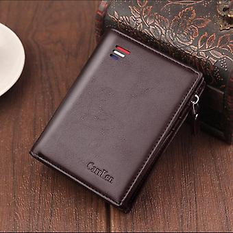 Men Wallets Fashion/card Purse Multifunction Leather Wallet, Zipper With Coin