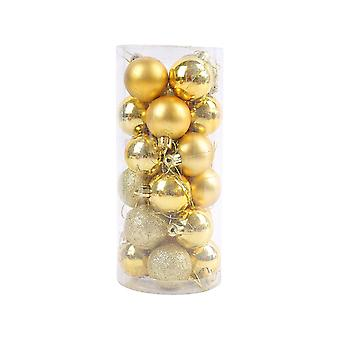 24pcs Christmas Tree Ball Ornaments Hanging Set for Holiday Wedding Party