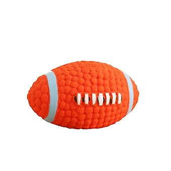 Dog Toy Latex Rugby Tennis Dog Bite Sounding Ball Pet Toy Sound Interaction, Molar Teeth Cleaning