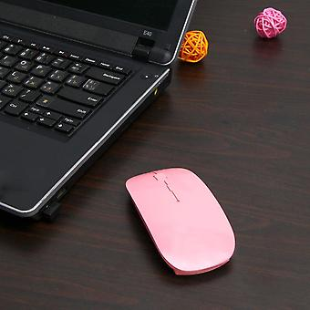 Ultra Thin 2.4ghz Wireless Optical Mouse Computer Pc Mice With Usb Adapter