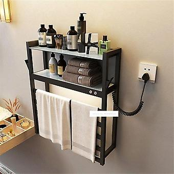 Wall Mounted Electric Heating Towel Rack With Storage
