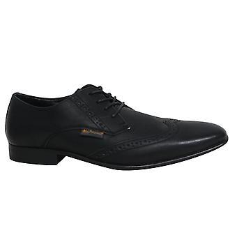 Ben Sherman Atiem Lace Up Black Synthetic Mens Brogue Shoes BEN3154 043 B38A