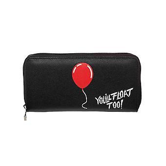 IT You'll Float Too Zip-Around bolso de embrague negro