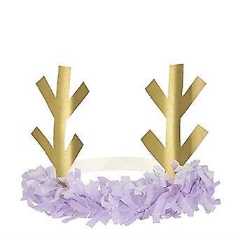 Meri Meri Christmas Reindeer Fringe Antler Headbands x 8