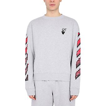 Off-white Omba025r21fle0040825 Mænd's Grey Cotton Sweatshirt