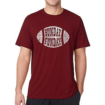 Funny Sunday Funday Sports Sports Graphic Men's Cardinal Red T-shirt