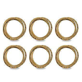 Dii Gold Intertwined Napkin Ring (Set Of 6)