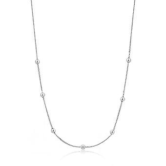 Ania Haie Sterling Silver Rhodium Plated Modern Beaded Necklace N002-03H