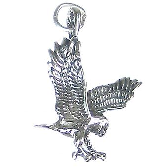 Eagle Sterling Silver 2d Bird Charm .925 X 1 Eagles Birds Charms - 2607