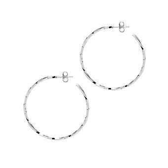 The Hoop Station La LAGO Di COMO Silver 38 Mm Hoop Earrings H29