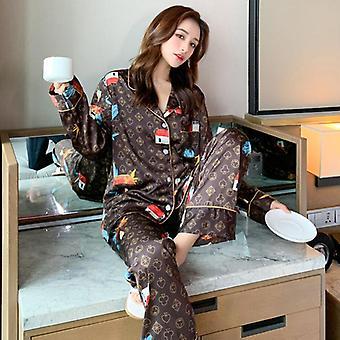 Tulosta Yöasut Rento Pyjamasetti, Univaatteet Intiimi Alusvaatteet Yöpaita