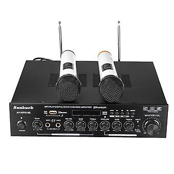 Sunbuck AV-MP618E 400W 2Ch bluetooth Digital Karaoke Amplifier Wireless Microphone Receiver System