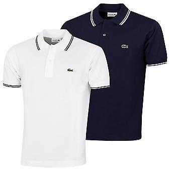 Lacoste Mens 2021 PH2384 Ribber Collar Pique Cotton Crocodile Polo Shirt