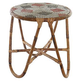 Boční stůl Dekodonia Abiyan SEAGRASS Červený ratan (48 x 48 x 53 cm)