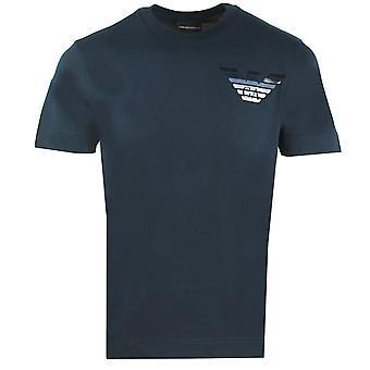 Emporio Armani Chest Eagle Logo Navy T-Shirt