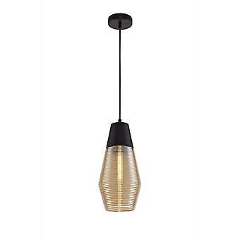 Dribble Cone, Lámpara Colgante 1 Bombilla Negro 50 Cm
