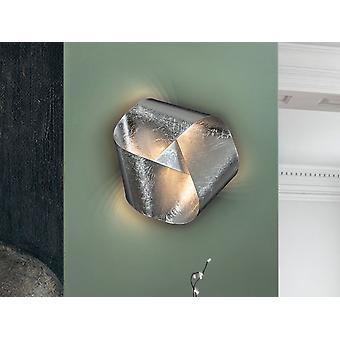 Luz de pared LED integrada, pan de plata