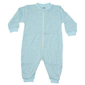 Pyjama haalari Sininen/Valkoinen raidallinen 80 cl