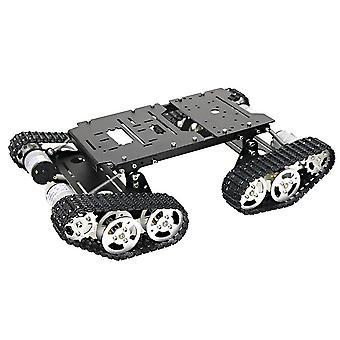 Robot de coche inteligente 4wd shock absorbiendo kit robótico chasis de tanque