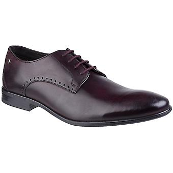 Base london men's westbury washed plain toe derby shoe bordo 27267