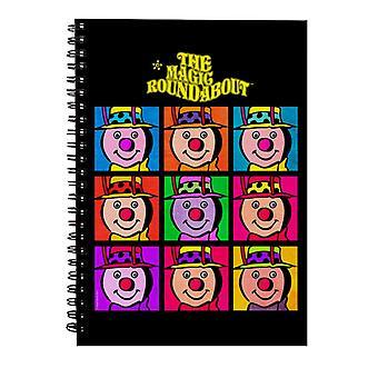 The Magic Roundabout Brian Pop Art Spiral Notebook