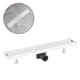 vidaXL Shower drain 63×14 cm stainless steel