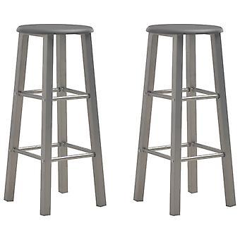 vidaXL bar stool 2 pcs. anthracite MDF