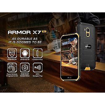 FengChun Armor X7 PRO (2020), Android 10 Outdoor Smartphone Ohne Vertrag, Quad-Core 4GB+32GB, IP68