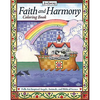 Faith and Harmony Coloring Book FolkArt Inspired Angels Animals and Biblical Scenes Design Originals 32 Uplifting Designs Comforting  Ark  More from Jim Shore Colouring Books