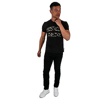 Men's Russell Athletic Camo Printed T-Shirt in Black