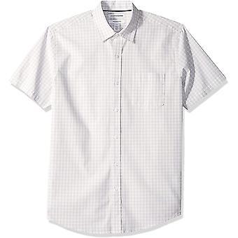 Essentials Męska&s Regular-Fit Koszulka poplin z krótkim rękawem